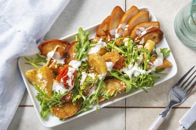 Gesunde Gerichte - Kartoffelsalat mit geräuchertem Hähnchen,