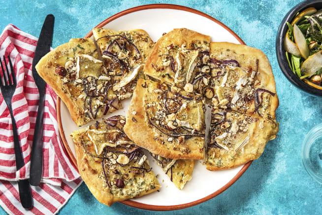 Schnelle Gerichte - Flammkuchen mit Camembert,