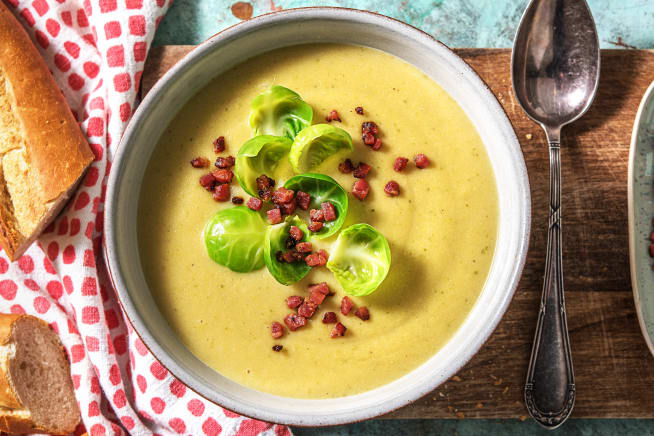 Schnelle Gerichte - Wärmende Rosenkohl-Crème-Suppe