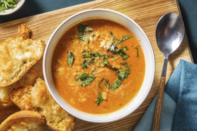 Schnelle Gerichte - Scharfe Tomaten-Paprika-Suppe