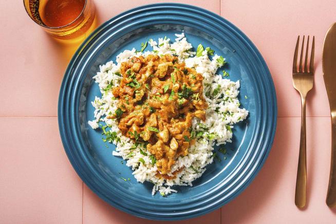 Gesunde Gerichte - Tikka-Masala-Curry mit Hähnchen
