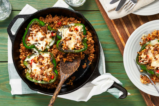 Family Friendly - Tuscan Beef-Stuffed Peppers