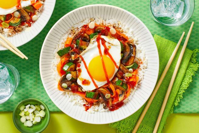 Quick meals - Veggie Bibimbap Rice Bowls