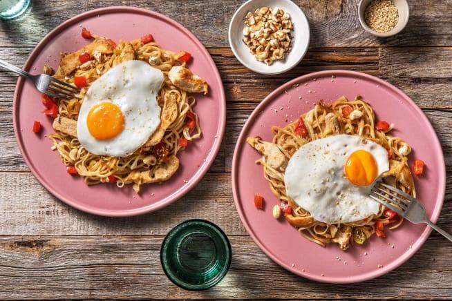 Snelle gerechten - Snelle wokschotel met gekruide kipfiletreepjes
