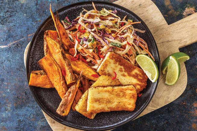 Quick Meals - American BBQ Haloumi