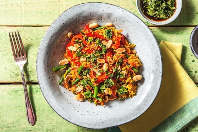 Vegetarian Recipes - Asian Jewelled Rice (v)