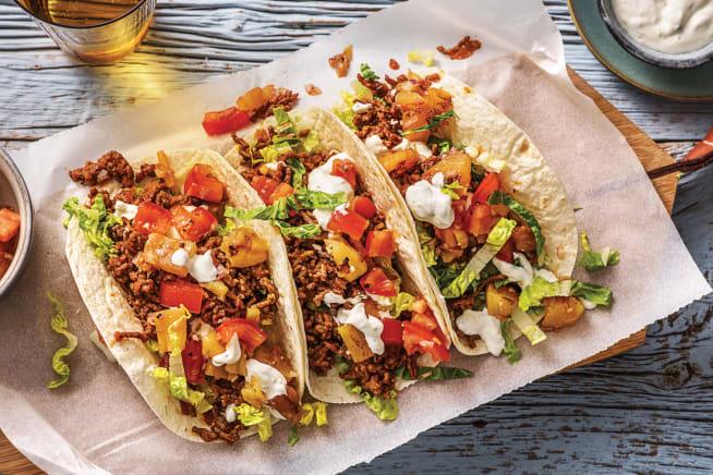 Beef & Pineapple Tacos
