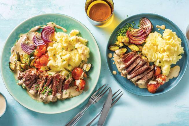 Quick Meals - Beef Rump & Peppercorn Sauce