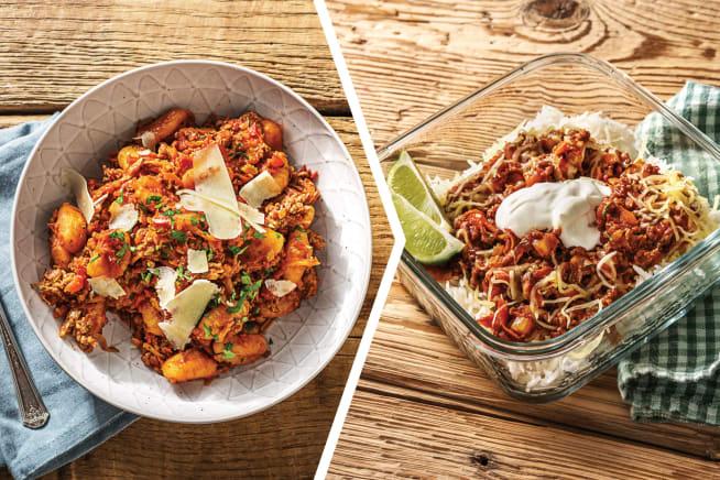 Beef & Veggie Ragu with Gnocchi for Dinner