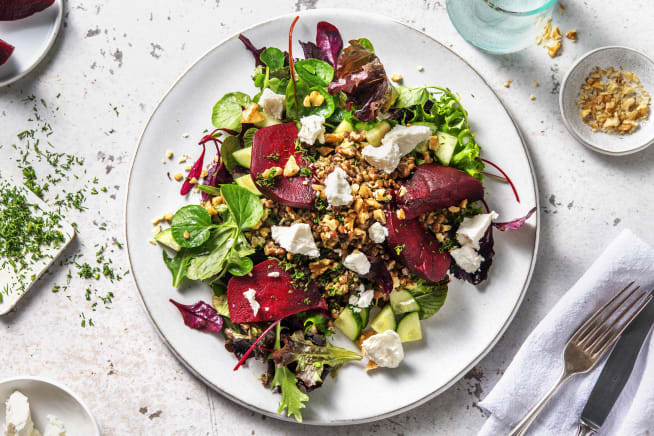 Beetroot, Lentil & Goat's Cheese Salad