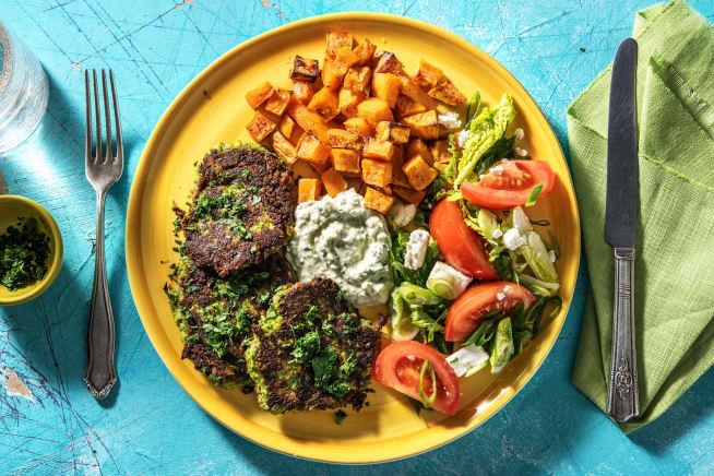 Thermomix Rezepte - Brokkoli-Taler mit Ofen-Süßkartoffeln