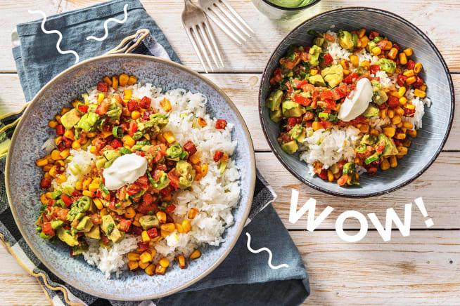 Schnelle Gerichte - Burrito-Bowl mit Chorizo