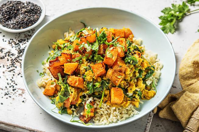 Low Calorie Meals - Butternut Squash Dal