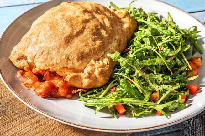 Homemade Vegetable-Packed Calzone