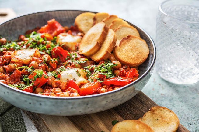 Spicy Shakshuka with Chickpeas