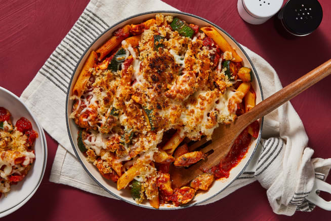 Quick meals - Cheesy Chicken Penne Bake