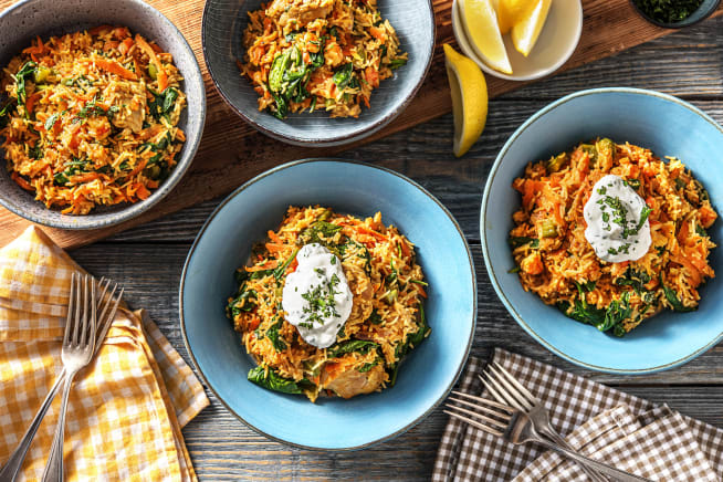 Low Calorie Meals - Chicken & Prawn Pilaf