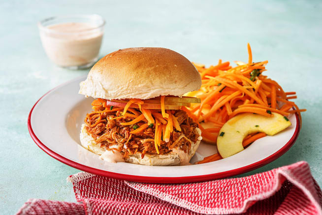 Quick meals - Chipotle Pulled Chicken Sandwiches