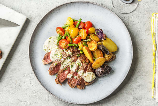Creamy Bearnaise Rib-Eye Steak