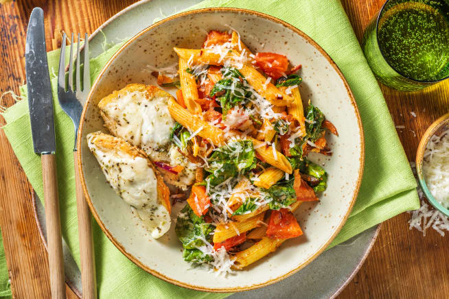 Quick Dinner Ideas - Creamy Sun-Dried Tomato and Spinach Penne