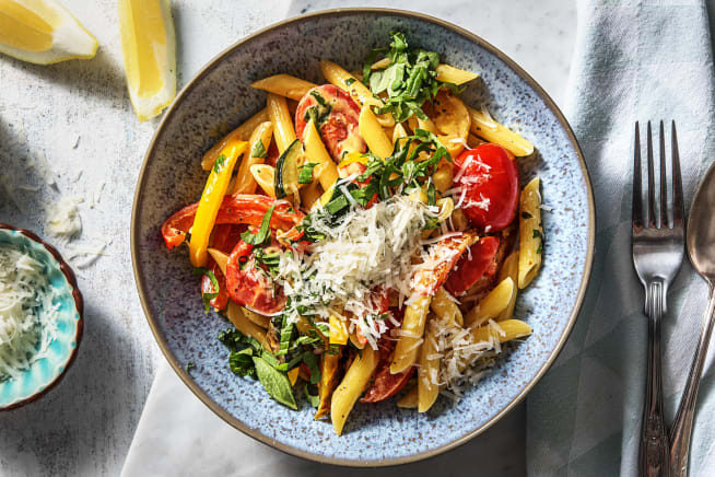 Easy and quick recipes hellofresh vegetarian recipes creamy veggie penne forumfinder Gallery