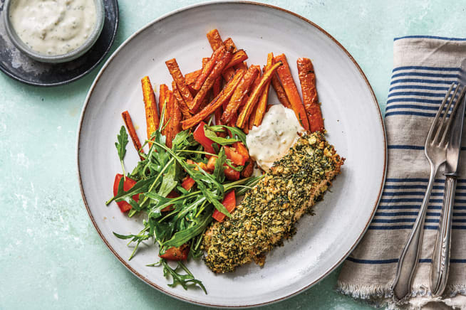 Dukkah & Dill-Crusted Salmon