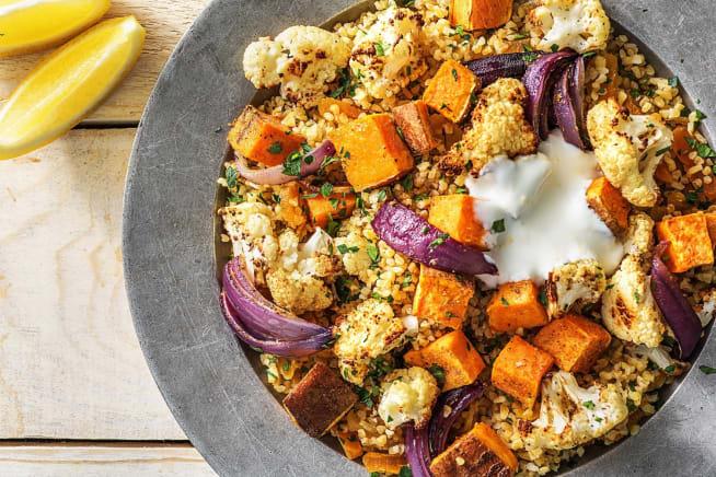 Vegetarian Recipes - Dukkah-Roasted Cauliflower