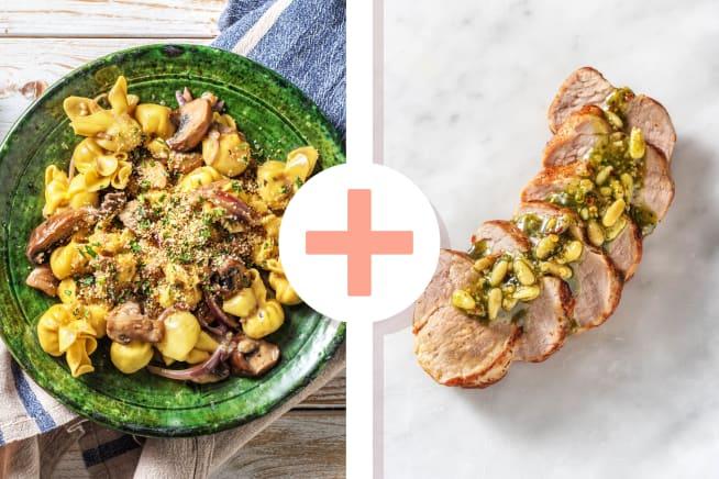 Thermomix Rezepte - Fiorelli-Pasta mit extra Schweinefilet