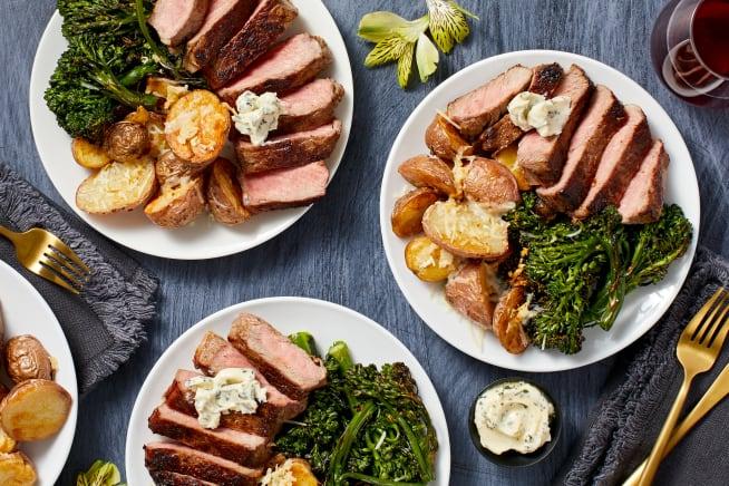 Family Friendly - Garlic Herb Buttered Sirloin Steak