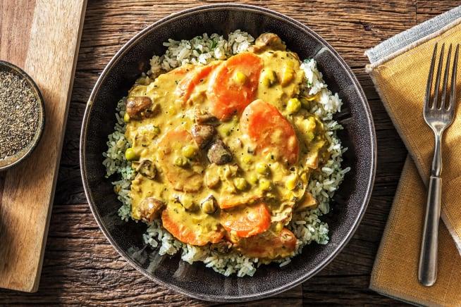 Schnelle Gerichte - Gemüsefrikasse mit Curry