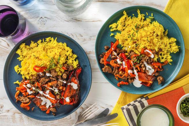 Snelle gerechten - Gevulde puntpaprika's met lamsgehakt