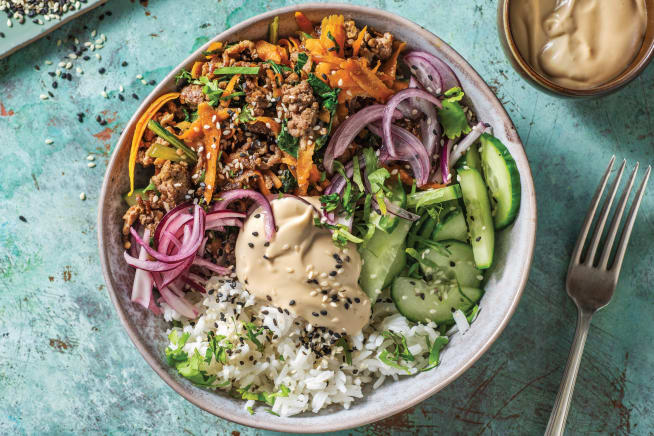 Quick Meals - Ginger Beef Rice Bowl