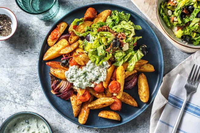 Thermomix Rezepte - Griechische Kartoffelsalat-Bowl