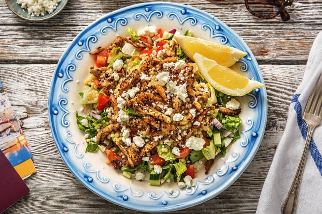 Quick & easy - Griekse salade met kippendij