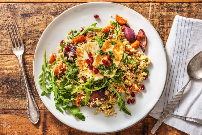 Easy and quick recipes hellofresh quick meals halloumi chermoula spiced couscous forumfinder Choice Image
