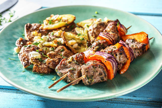 Herby Steak Skewers