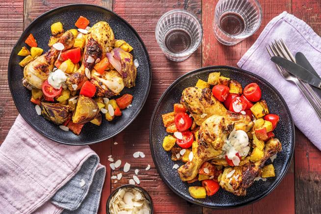 Indian Chicken & Veg Traybake