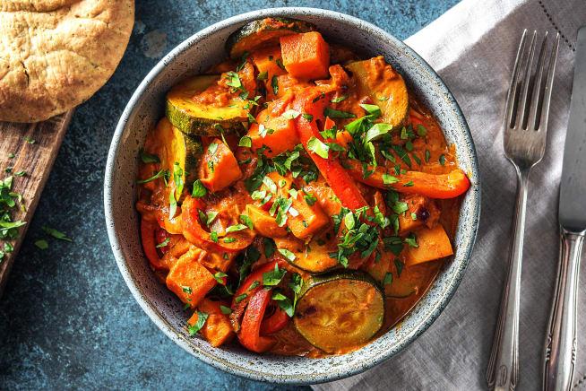 Indisches Süßkartoffelcurry