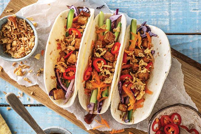 Speedy Japanese-Style Tofu & Veggie Loaded Tacos