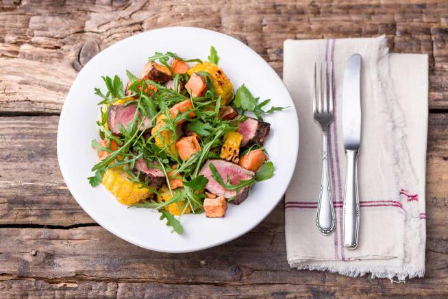 Jerk Beef & Charred Corn Salad