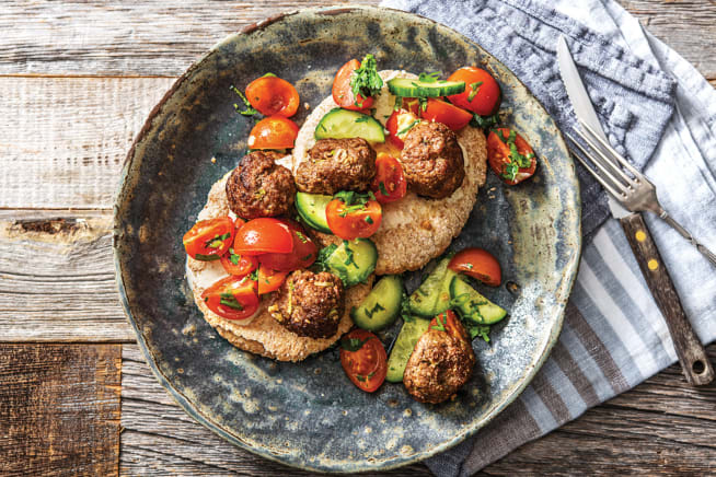 Quick Meals - Mini Lebanese Beef Meatball & Salad Wraps