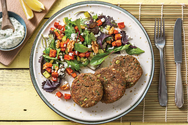 Quick Meals - Lentil, Dill & Dukkah Patties