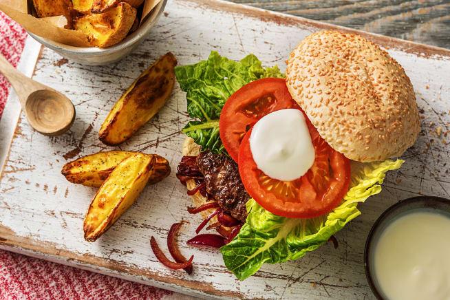 Marokkanischer Rindfleisch-Burger