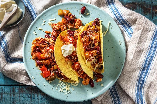 Caloriearme recepten - Mexicaanse taco's met kipgehakt