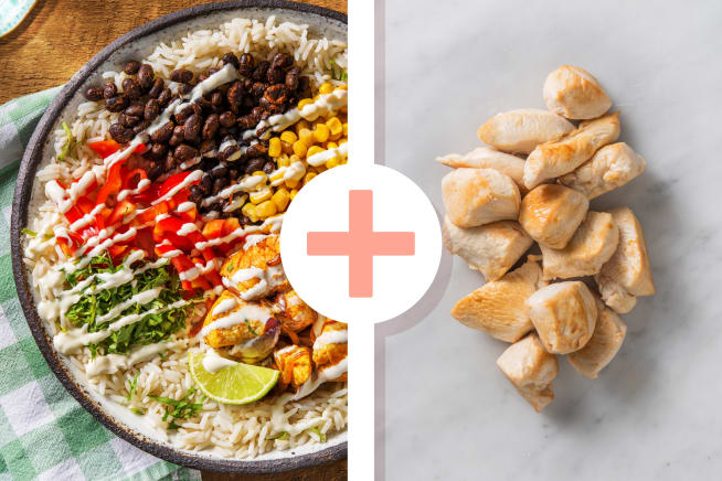 Snelle gerechten - Mexicaanse bowl met dubbele portie kipfilet