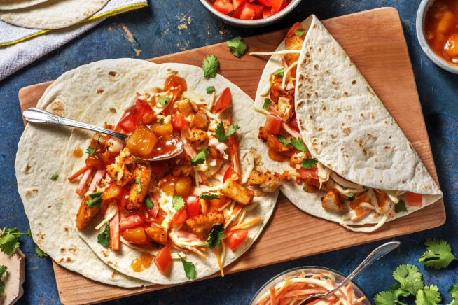 Snelle recepten - Mexicaanse viswraps met kool-wortelsalade