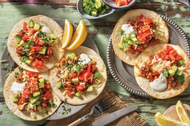 Quick Meals - Mexican Beef Tostadas