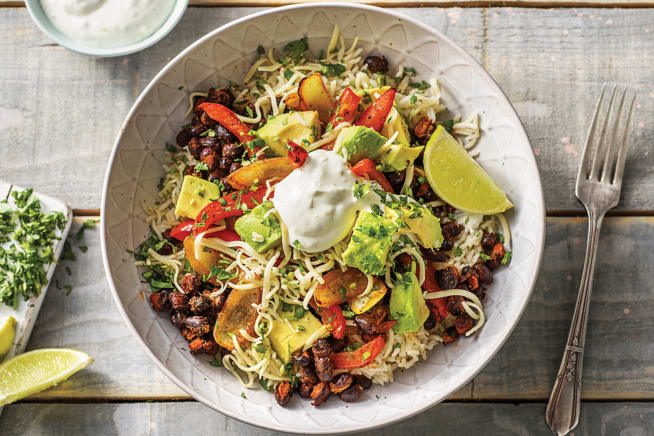 Mexican 'Fajita' & Black Bean Rice Bowl