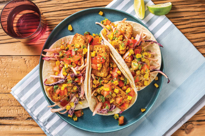 Quick Dinner Ideas - Mexican-Style Tofu & Charred Corn Tacos