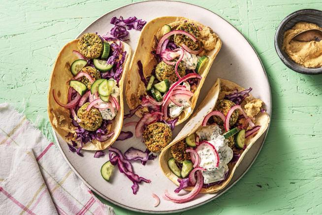 Quick Meals - Mini Falafel & Hummus Wraps